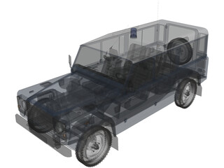 Land Rover Defender 110 Gendarmerie 3D Model