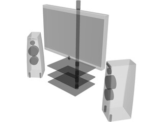 Lowe LED TV with Meridian Speakers 3D Model