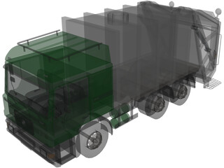 Volvo TH5 Garbage Truck 3D Model