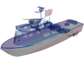 U.S. Navy Swift Patrol Boat 3D Model