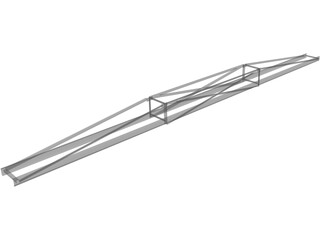 60 Ft Conveyor Truss 3D Model
