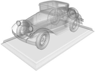 Ford Model A Coupe 3D Model