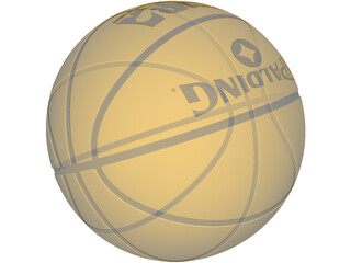 Spalding Basketball 3D Model