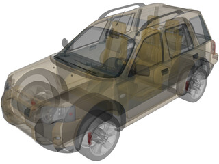 Land Rover Freelander Td4 (2004) 3D Model
