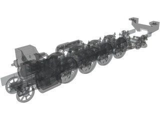 Train Chassis Detailed 3D Model