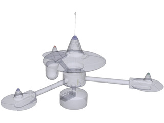 Star Trek Space Station K-7 TOS 3D Model