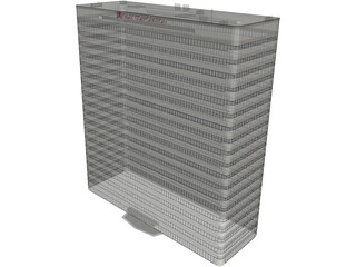 High-Rise Office Building 3D Model