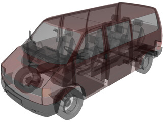 Volkswagen Transporter 3D Model