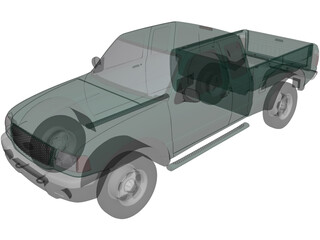 Ford Ranger Pickup (2001) 3D Model