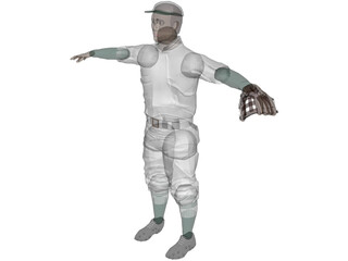 Baseball Player [+Glove] 3D Model