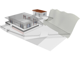 Greek Country House 3D Model