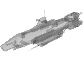Babylon 5 Earth Force Tempest 3D Model