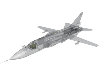 Sukhoi Su-24M Fencer 3D Model