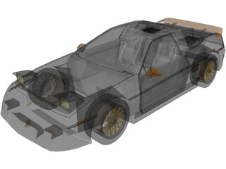 Pontiac Fiero GT Fast back 3D Model