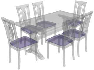 Table Chinese Style 3D Model