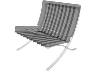 Chair Barcelona Mies Van de Rohe 3D Model