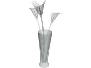 Flowers In Glass 3D Model