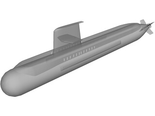 Australian Collins Class Submarine 3D Model
