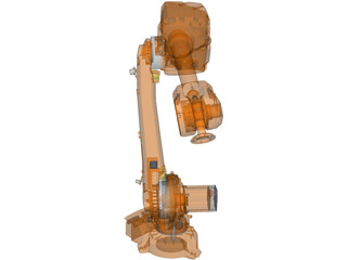 ABB IRB4600 Indistrial Robot 3D Model