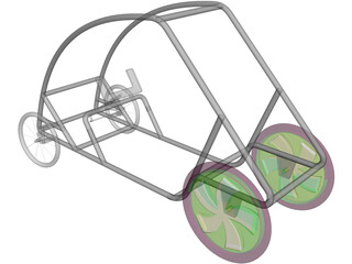 Shell Eco Marathon Car Chassis 3D Model