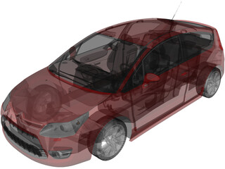 Citroen C4 VTS Coupe (2009) 3D Model