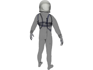 Astronaut Mercury Project 3D Model