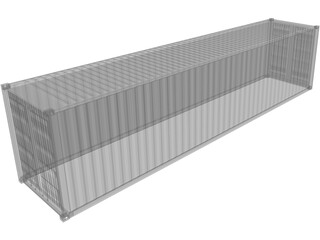Shipping Container 40` 3D Model