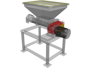 Meat Grinder with Stand 3D Model