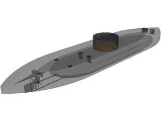 US Ironclad Monitor 3D Model