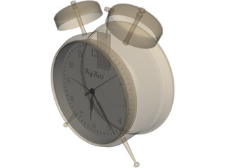 Big Bell Alarm Clock 3D Model