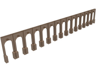 Aquaduct Bridge 3D Model