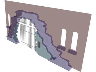 Archway Caged 3D Model