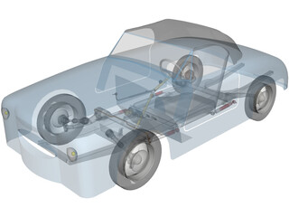 Dyna Kit Car 2CV Based 3D Model