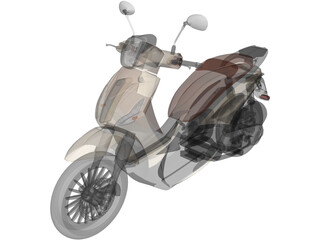 Piaggio Beverly Tourer 200cc Scooter 3D Model