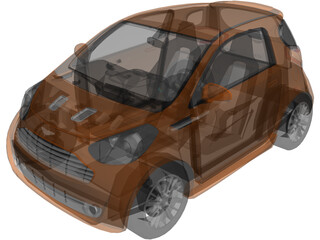 Aston Martin Cygnet (2011) 3D Model