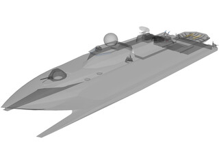 Catamaran Destroyer 3D Model