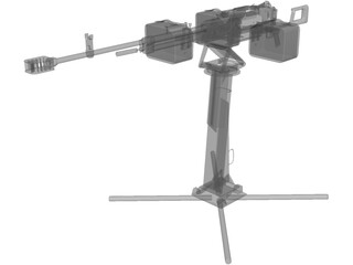 Kord Machine Gun 6P50-3 3D Model