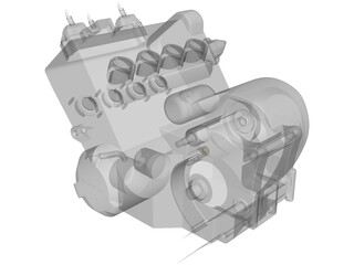 Honda CBR600RR 2003 Engine 3D Model