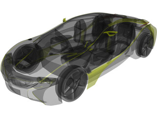 BMW Vision EfficientDynamics Black Edition 3D Model