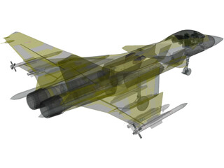 AF-36 Front Line Fighter 3D Model