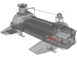 London Transport Ship 3D Model