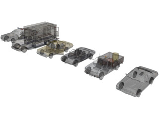 Cars Collection 3D Model