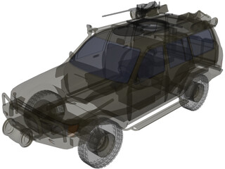 Toyota LC100 Security Escort Vehicle 3D Model