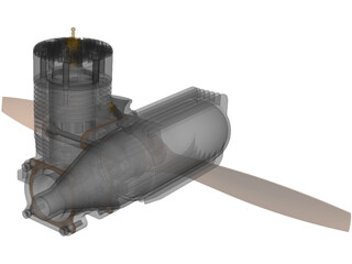 RC Model Engine 3D Model