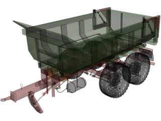 Hilken Trailer HI2250SMK 3D Model