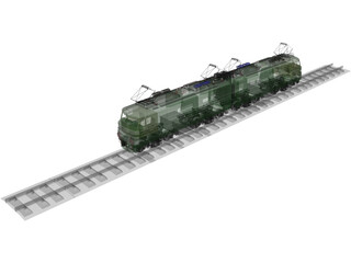 Locomotive Train Russian 3D Model