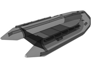 Small Inflatable Boat 3D Model