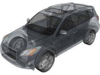 Toyota RAV4 Limited (2012) 3D Model
