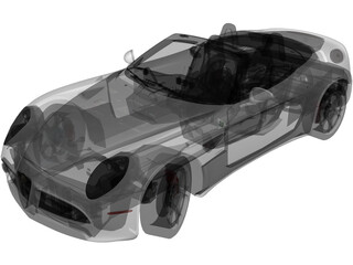 Alfa Romeo 8C Spider (2010) 3D Model