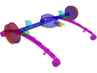 Rear Axle Assembly 3D Model